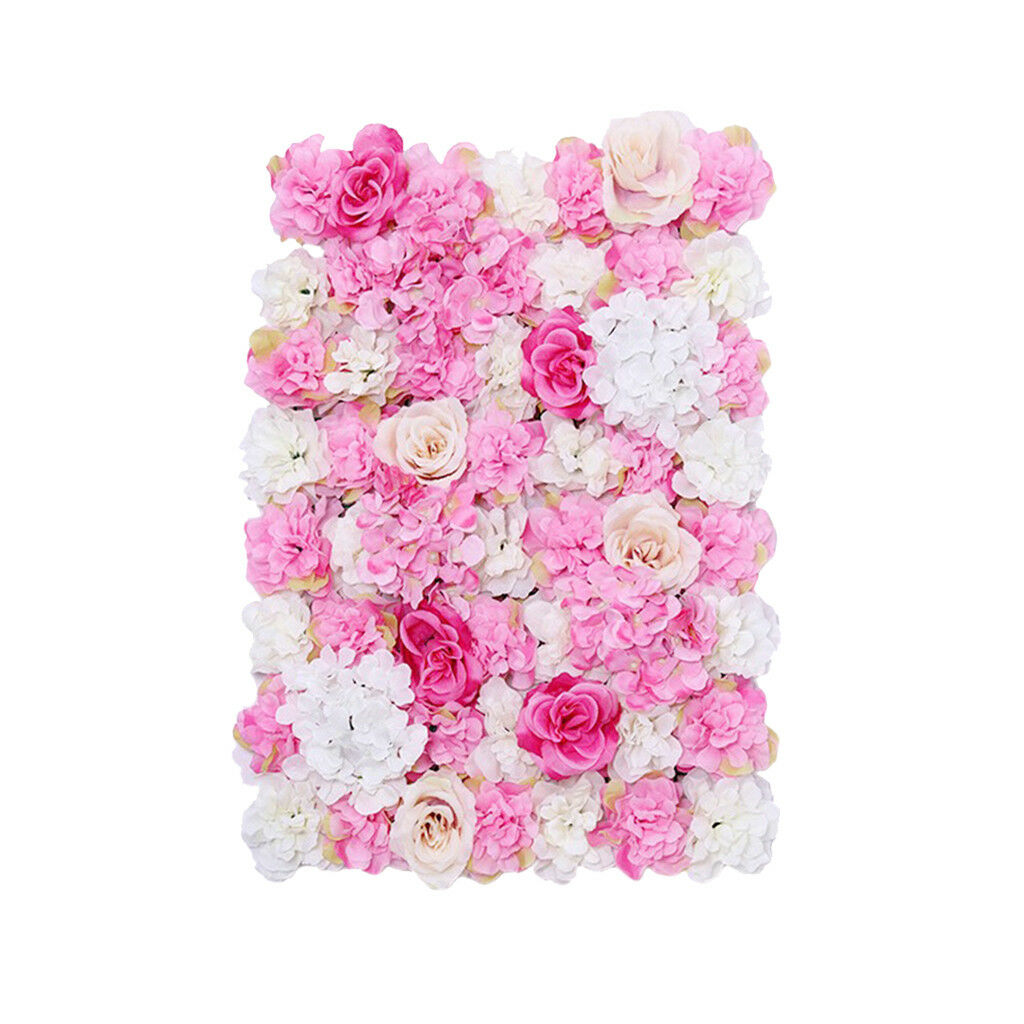 8er-set à faire soi-même Mariage bleumenwand rosenwand fleurs pilier, de soie Roses et