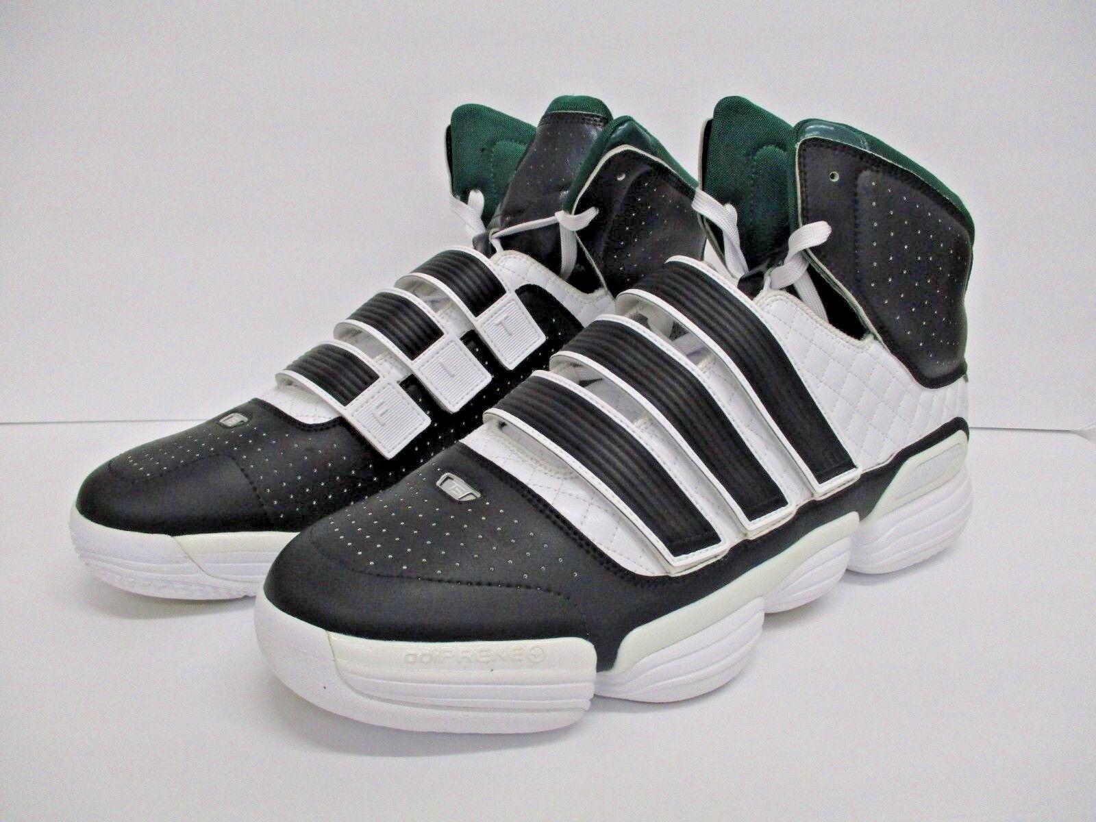 New  adidas TS Steel Black Green Men's Football shoes Size  17