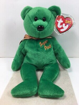 Ty Beanie Babies  I Love Heart Boston Green Bear Tag Excellent MWMT 2004 PE