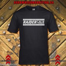 Raider Twin Track vintage Snowmobile style T-shirt black