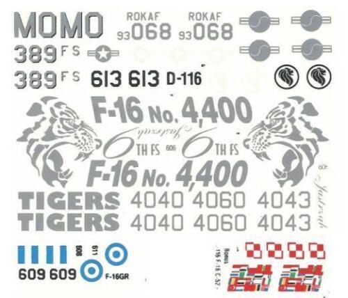 16 C-BLOCK 52 F FALCON GRIECHISCH,KOREANISCHE,POLIERUNG,SINGAPUR MKGS1//72