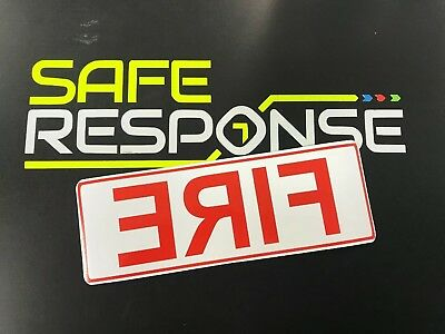 Magnetic sign FIRE reflective retained firefighter vehicle emergency response