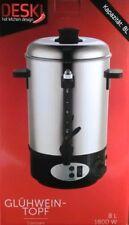 8 L Glühweinkocher Edelstahl 1800 Watt Glühweinautomat 8 Liter  Glühweinkessel