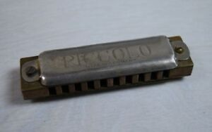 Vintage Collectible PICCOLO German Miniature Small HARMONICA Musical Instrument