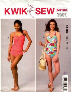 Kwik-Sew-Pattern-K4182-4182-Misses-039-Swimsuits-XS-XL