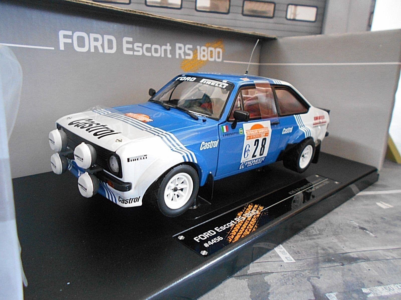 Ford Escort MKII rs1800 2.0 Rallye san remo WM 1981  28 Presotto SunEstrella 1 18