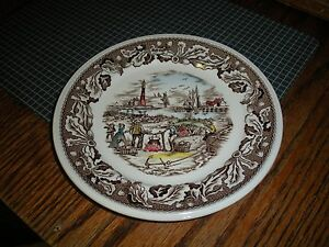Vintage-Johnson-Brothers-Bread-Butter-Plate-Neighbors-Clam-Bake-Made-in-England