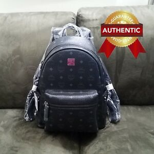 021178de83e0 NEW Authentic MCM Stark Side Studs Backpack in Visetos Black - SM MD ...