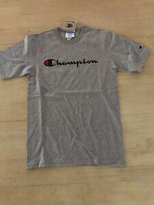 241c2968d Grey Champion LIFE Men's Heritage Tee Champion Script Logo | eBay