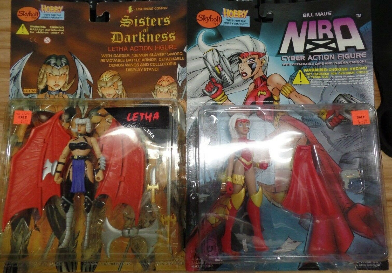 Skybolt Skybolt Skybolt Figure Lot of 2 Bill Maus Nira & Sisters of Destruction Letha 071918DBT4 a9b1b1