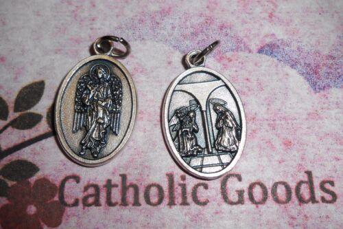 Tono Plateado Ox 2.5cm Medalla Gabriel el Arcángel Santos St Annunciation