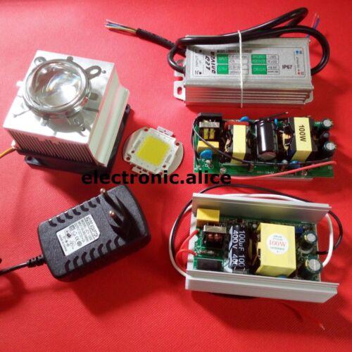 100W 100 Watt High Power LED Diy kits 100w led driver power supply/&100w heatsink