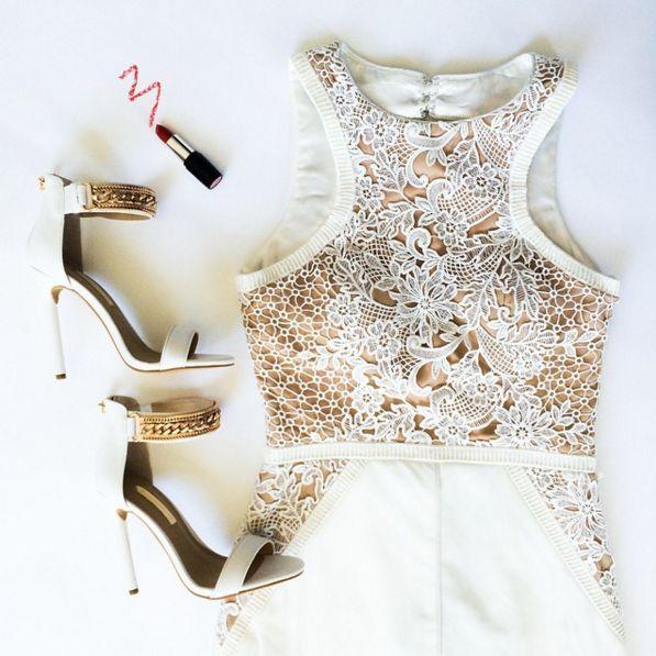 NUOVO Forever Unique bianco oro catena cinturino alla caviglia tacco sandalo Prom Scarpa in pelle 6