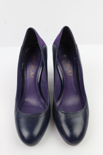 Court condizioni Leather e Kookai Suede Navy Ottime T 38 Shoes Purple Blu PqXPx5nErw