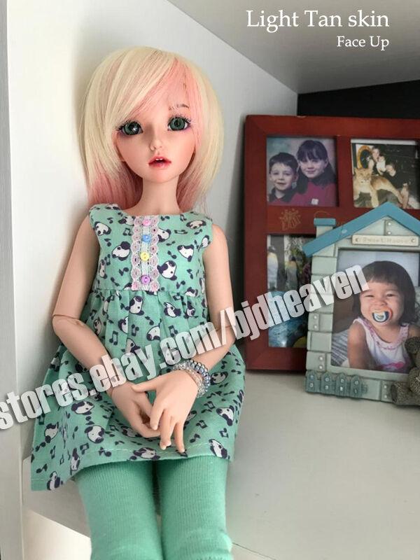 BJD SD 1 4 niña Celine Ojos + cara Maquillaje Figuras de Resina modelo Reborn