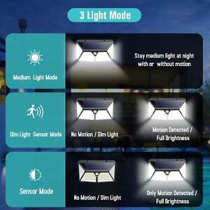 2-lampes-solaires-180-LED-exterieurs-lumiere-de-nuit-securite-capteur-270-degre