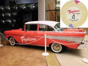 Tropicana-Casino-Las-Vegas-1-US-Dollar-Chip-Roulette-Jeton-Black-Jack-Poker