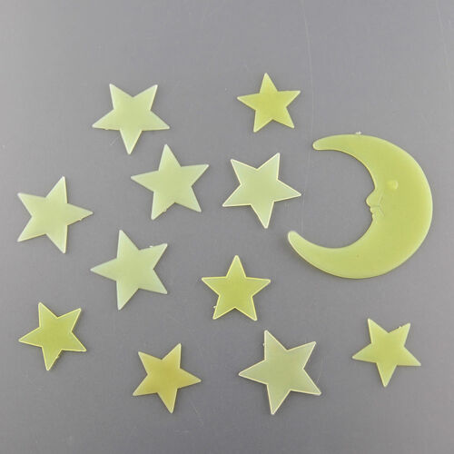 Economic Good Moon Star Noctilucent Glow In The Dark Wall Sticker Kid Decal @FH
