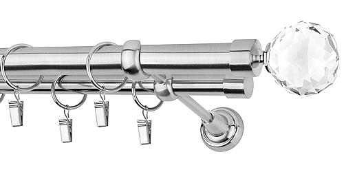 Gardinenstange Vorhangstange  2-läufig  Ø 25 19 mm METALL, METALL, METALL, EDELSTAHL | Großer Verkauf  | Verschiedene Arten Und Die Styles  | Billiger als der Preis  208a14