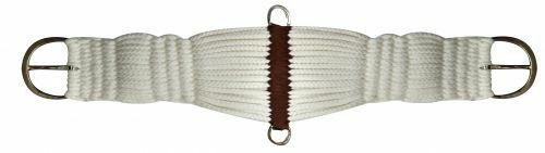 """Weaver Western Horse Saddle Heavy Rope Girth Cinch White w// Brown 32/"""" w// D Rings"""