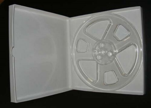 """10 with brand new hinged boxes 7/"""" x 1//4/"""" plastic tape reels"""