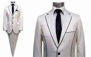 Festlische-Herren-Anzug-Elegant-Gr-50-Creme-Ivory