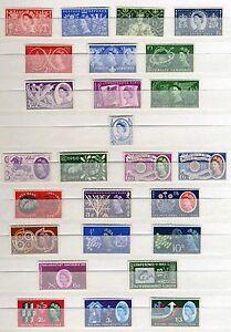 1953-1965-COMMEMORATIVA-singoli-Set-INSERZIONE-MULTIPLA-MINT-MNH
