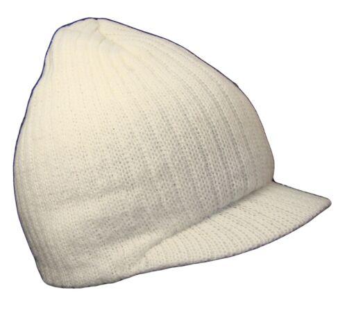 White College Style Campus Jeep Visor Beanie Winter Knit Ski Cap Caps Hat Hats