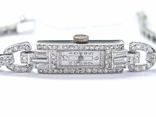 "Ladies Vintage Platinum Diamond Watch 6.75"" 1.22Ct"
