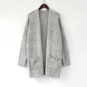 Women-039-s-Long-Sleeve-Knit-Open-Front-Cardigan-Sweater-Shirt-Top-Jacket-Coat-Tops