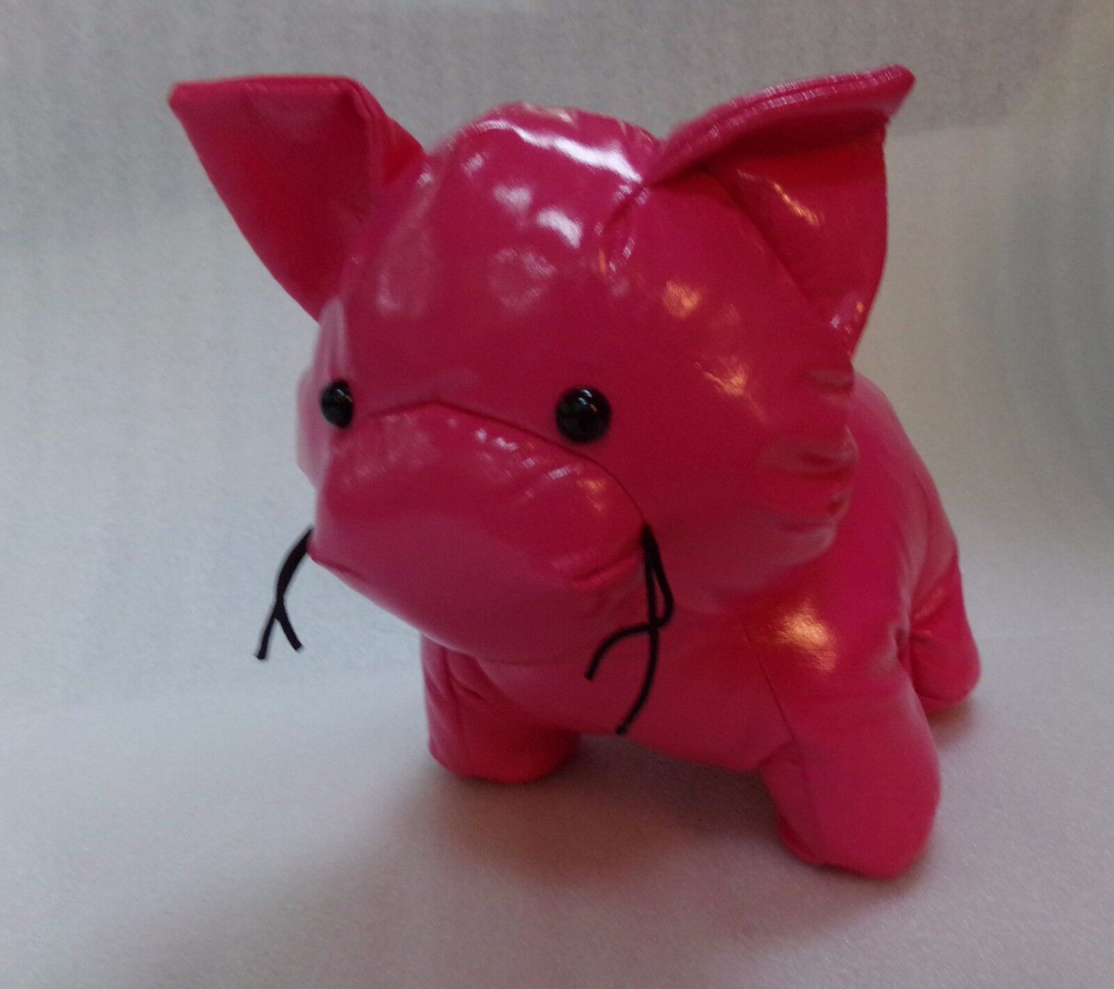 2010 Classic Manhattan Toy Company Plush Stuffed Bright Polyester Pink Pig 8x9