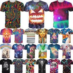 Fashion-Women-Men-039-s-3D-Print-Short-Sleeve-Tops-Casual-T-Shirt-Graphic-Tee-Shirts