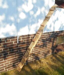 Escabeau / échelle de chat robuste, longueur de 6,50 mètres, bois de sapin de Douglas (601)
