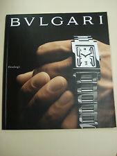 CATALOGO BROCURE OROLOGIO BULGARI 2000 MODELLI UOMO DONNA LUSSO GIOIELLI WATCH