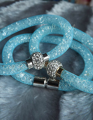Magnetic Crystal Mesh Stardust Style Shamballa Charm Bracelet Bangle ❤23Colours❤