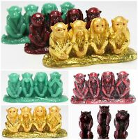 Feng Shui See No Evil, Hear No Evil, Speak No Evil Statues Paperweights Gift