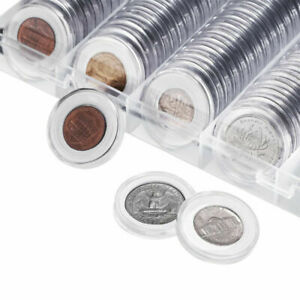 25-27-30mm-Plastic-Coin-Holder-Capsule-Storage-Case-Display-Box-W-Coin-Pad-Ring
