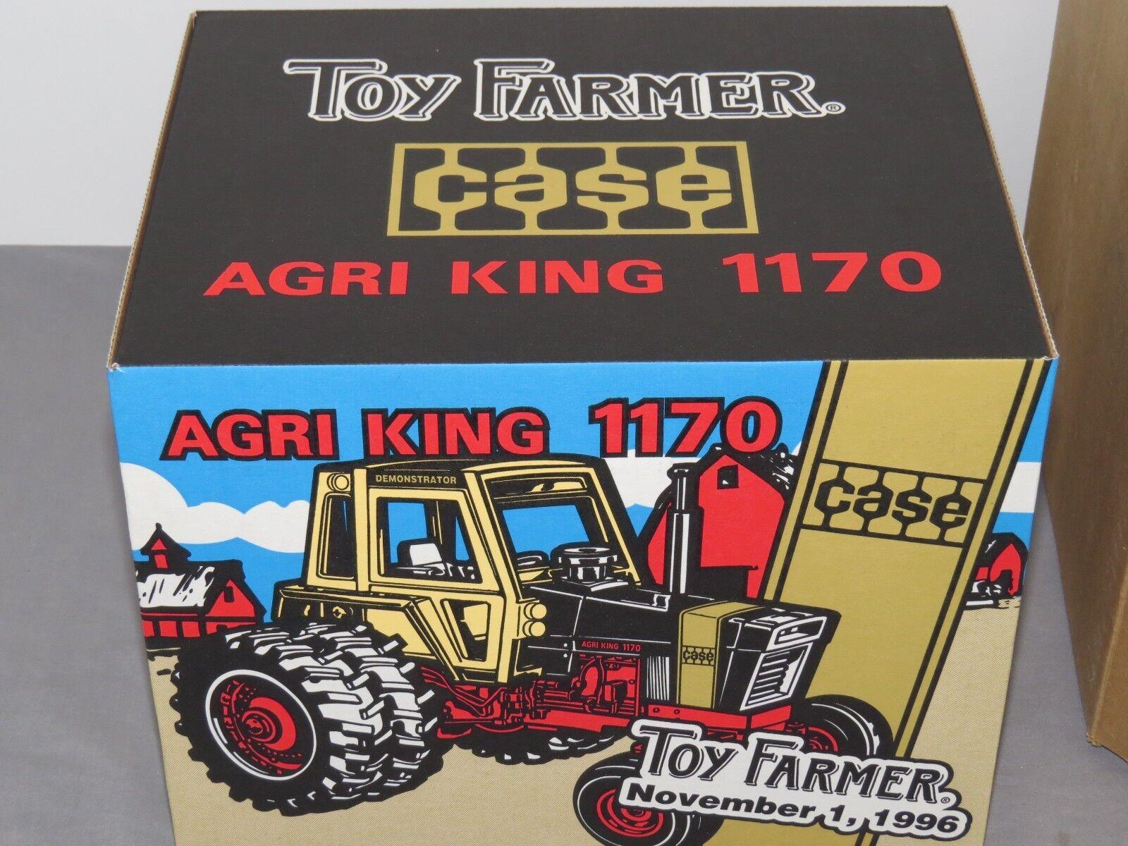 Vintage 1 16 Case Agri King 1170 Tractor Toy Farmer NIB Ertl gold Demonstrator
