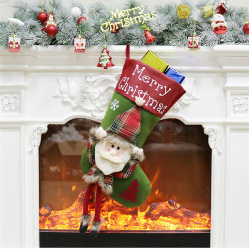 New Santa Gift Bag Christmas Tree Door Window Hanging Ornaments Xmas Home Decor