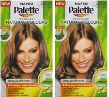 2 x NAPRO PALETTE NATURAL COLOURS PERMANENT HAIR COLOUR 8.0 MEDIUM TOFFEE BLONDE