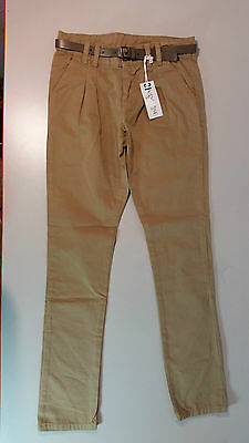 VINROSE Kinder Hose Jeans Bundfaltenhose Gr.128,140  braun CHALINE Baumwolle NEU