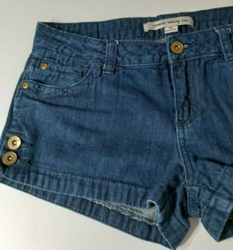 Forever21 Womens size 26 Blue Denim Jeans Shorts s