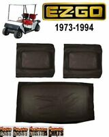 Ezgo 1973'-1994' Golf Cart (black Vinyl) Seat Cover Set (free Shipping)