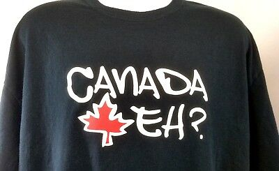 Canadian Leaf Canada Sports Hockey Maple Leaf Language Mens T-Shirt EH