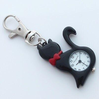 Fashion Boy Girls Pet Cat Pocket Key Rings Pendant Watch Party Gifts GL58k