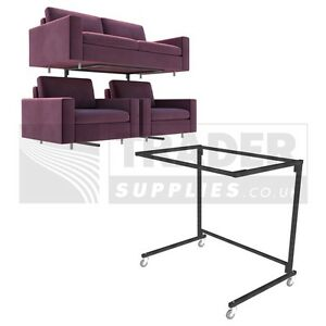Image Is Loading 1x Sofa Display Stand Mobile Rack Suite