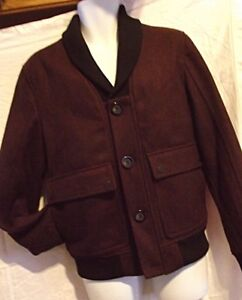 1b36f886f Details about BRAND NEW Black Rivet Mens Wool Blend Bomber Jacket Burgundy  S-M Quilted Lining