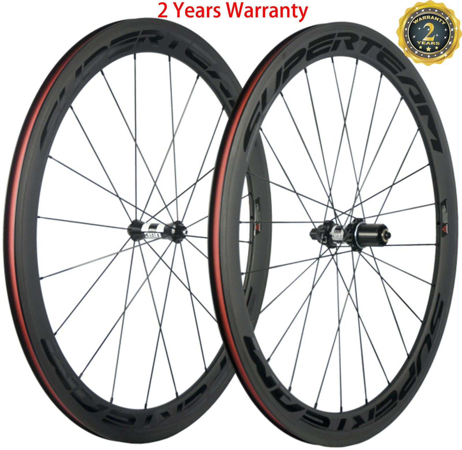 700C Clincher Carbon Road Bike Wheelset 50mm DT350s Hub Basalt Braking Surface