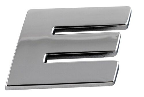 Letter E Sumex Branded Chrome 3D Sticker Self Adhesive Car /& Home Emblem Badge