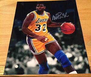 78a0e9a9f Los Angeles Lakers Earvin Magic Johnson Signed NBA Basketball 8x10 ...